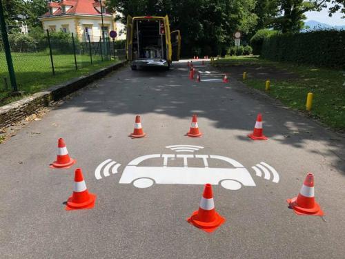 Fahrbahnmarkierung, Autonomes Fahren Pörtschach