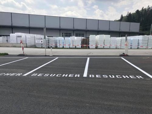 Parklplatzmarkierung Fa. Hirsch, Liebenfels