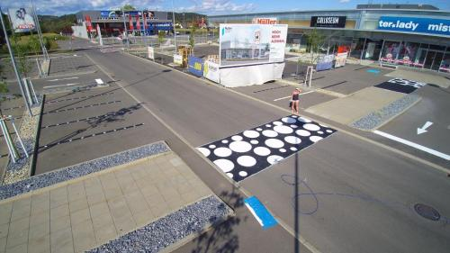 Parkplatzmarkierung, Feldbach