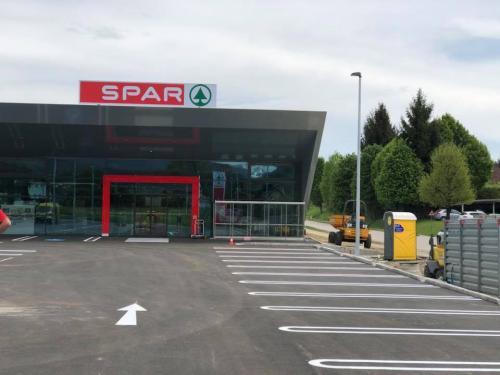 Parkplatzmarkierung Spar, Feldkirchen