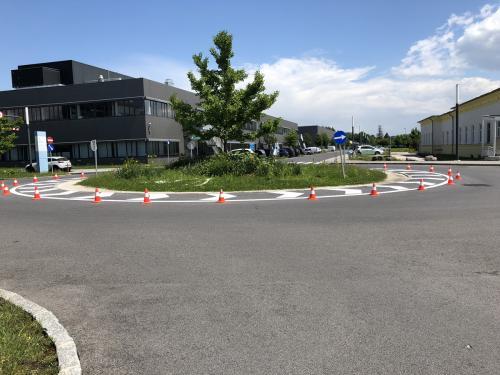 Strassenmarkierung, Kreisverkehr